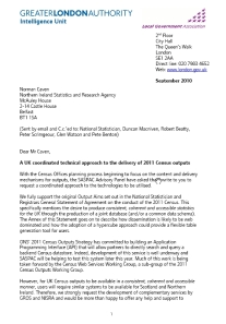 SASPAC Advisory Panel 2011 UK outputs letter to RGs
