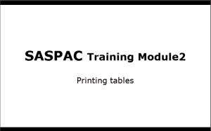 SASPAC Module2
